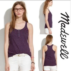 Madewell size small striped tank top with buttons